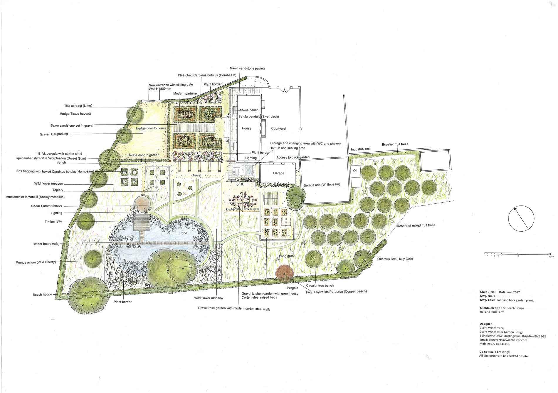 Elizabethan house garden plan
