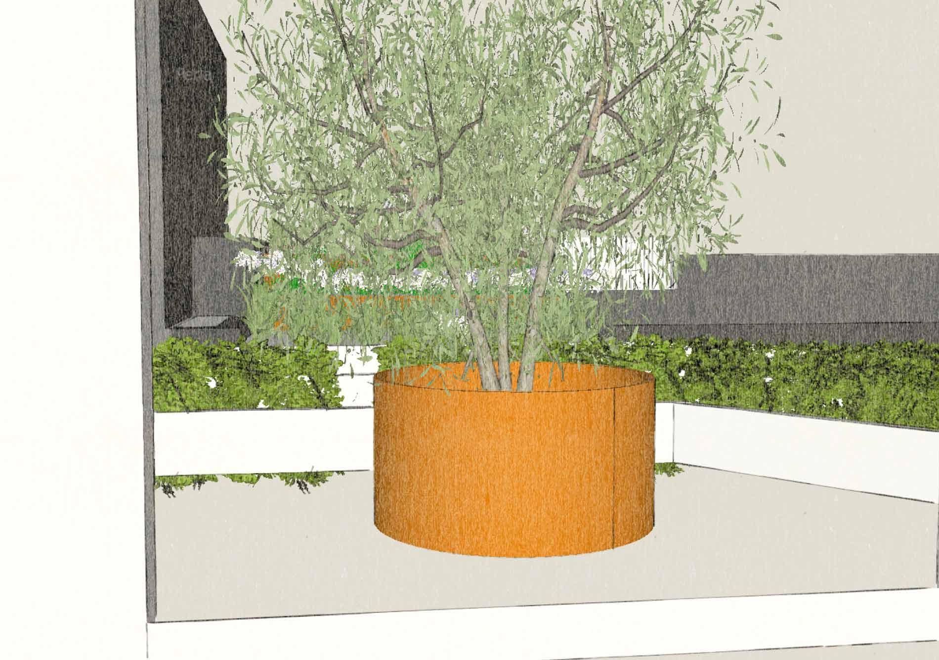 Tenerife 3D Corten steel planter