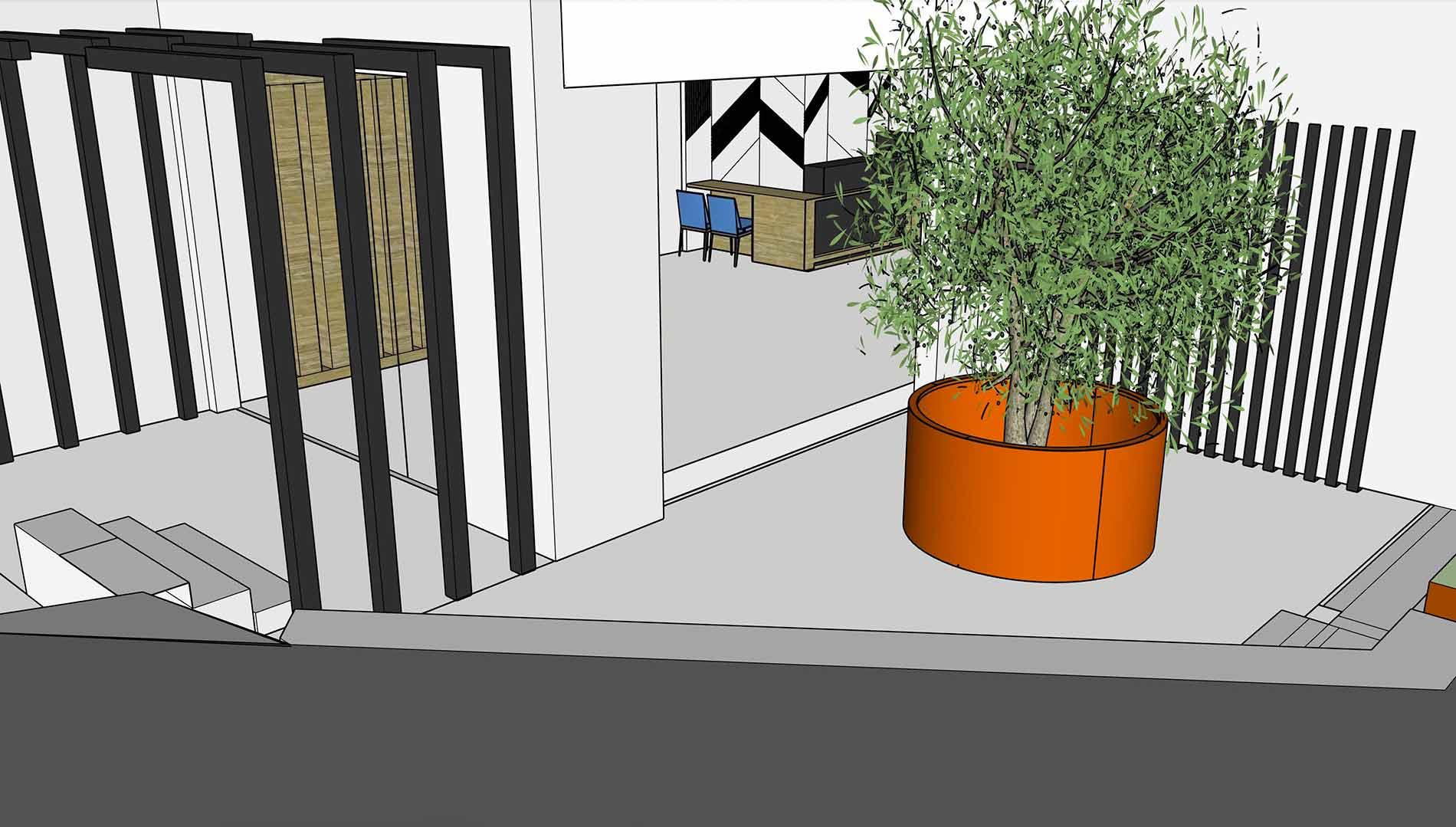 Tenerife 3d visual planter pergola cladding