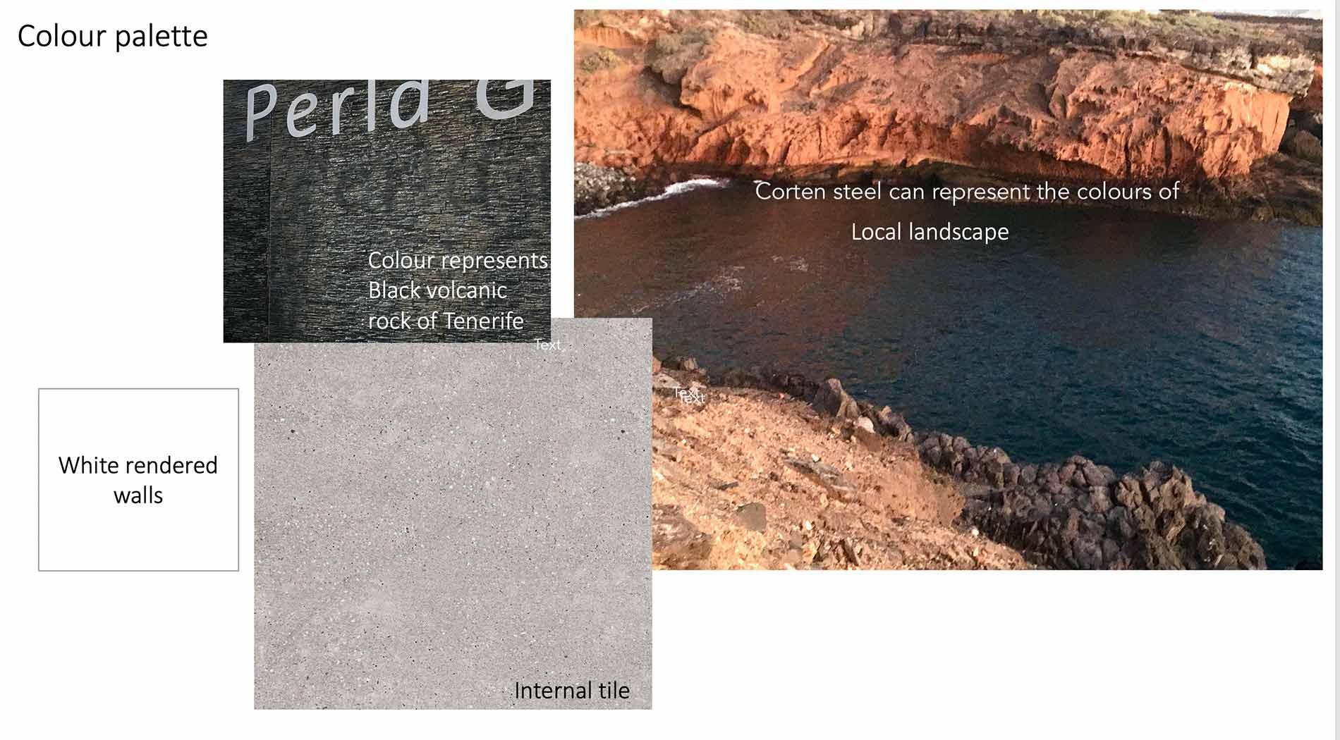 Tenerife design colour palette